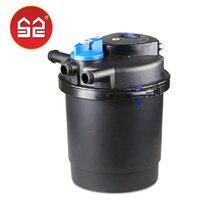 SUNSUN CPF2500 рыбка пруд полную система фильтров пруд фильтр ведро пруд фильтр с УФ бактерицидной лампы подходит для 3 т
