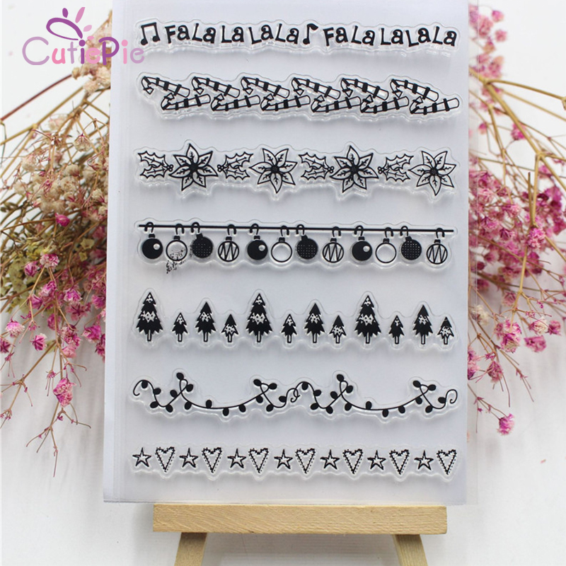 CUTIEPIE Christmas Decor Designs Transparent Clear Stamp DIY Silicone Seals Scrapbooking ...
