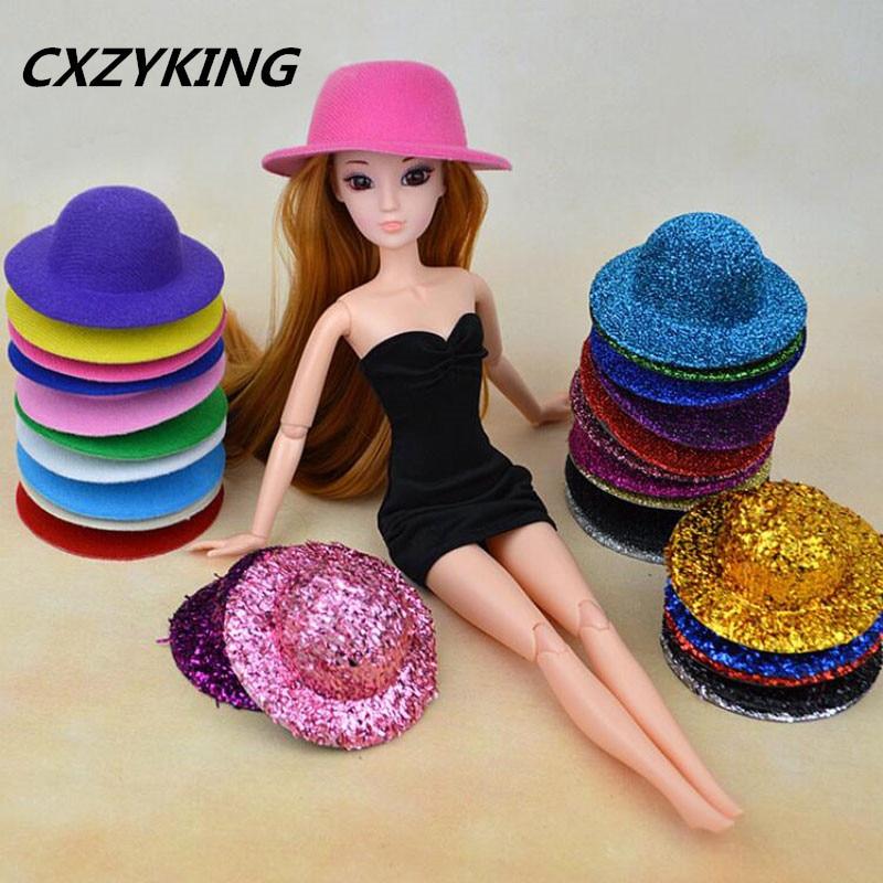 CXZYKING Barbie Doll Hat Head Wear Accessories For 1/6 Barbie Doll Accessories Gift New 2017 Toys for Girls