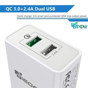 Image 2 - TIEGEM 30 watt Quick Charge 3,0 USB Wand Ladegerät Adapter EU US Stecker Universal Reise Ladegerät Handy Ladegerät für samsung iphone