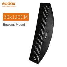 """Софтбокс Godox 30x120 см 12 """"x 47"""", прямоугольная ячеистая сетка с креплением Bowens, студийный стробоскоп, рассеиватель для студийного стробоскопа"""