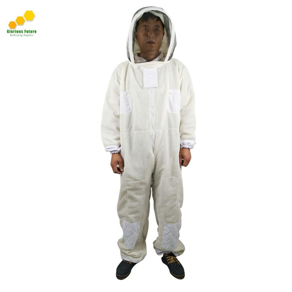 Nouveau Style d'apiculture Trois Couches D'air À Travers la Couverture Tout Ventilé Apiculteur abeille Costume de Protection