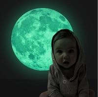 30 30 Fluorescent Moon Wall Stickers Home Decor Decoration Glow In The Dark Stars Luminous Wall