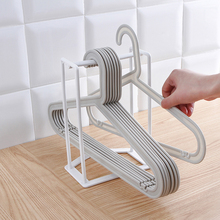 Home Clothes rack collecting finishing balcony multi-functional clothes hanger 16.8*12.7*24.5cm