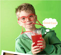 Fun Soft Plastic Straw Funny Glasses Flexible Drinking Toys Party Joke Tube Tools Kids Birthday Toys