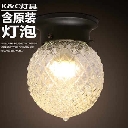 Modern brief balcony entranceway iron small circle led ceiling light lamp cover entranceway modern retro balcony entranceway aisle lights american brief iron single head christmas bells ceiling light free shipping