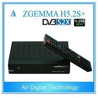 10ชิ้น/ล็อตทั่วโลกMultistreamถอดรหัสZGEMMA H5.2Sบวกลินุกซ์OSดาวเทียม/กล่องสายH.265 DVB-S2 + DVB-S2X/T2/C T Ripleจูนเนอร์