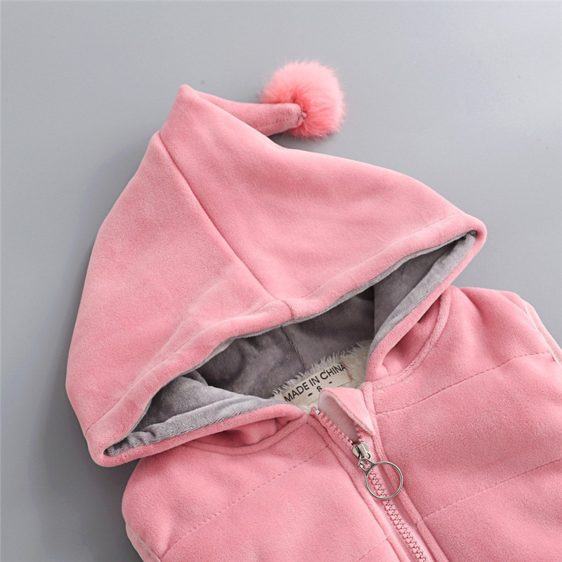 Children's Clothing Sets Winter Baby Girl Clothes Suit For Toddler Autumn Warm Hooded 3PCS Vest + Long Sleeves + pants 1-3 Year 5
