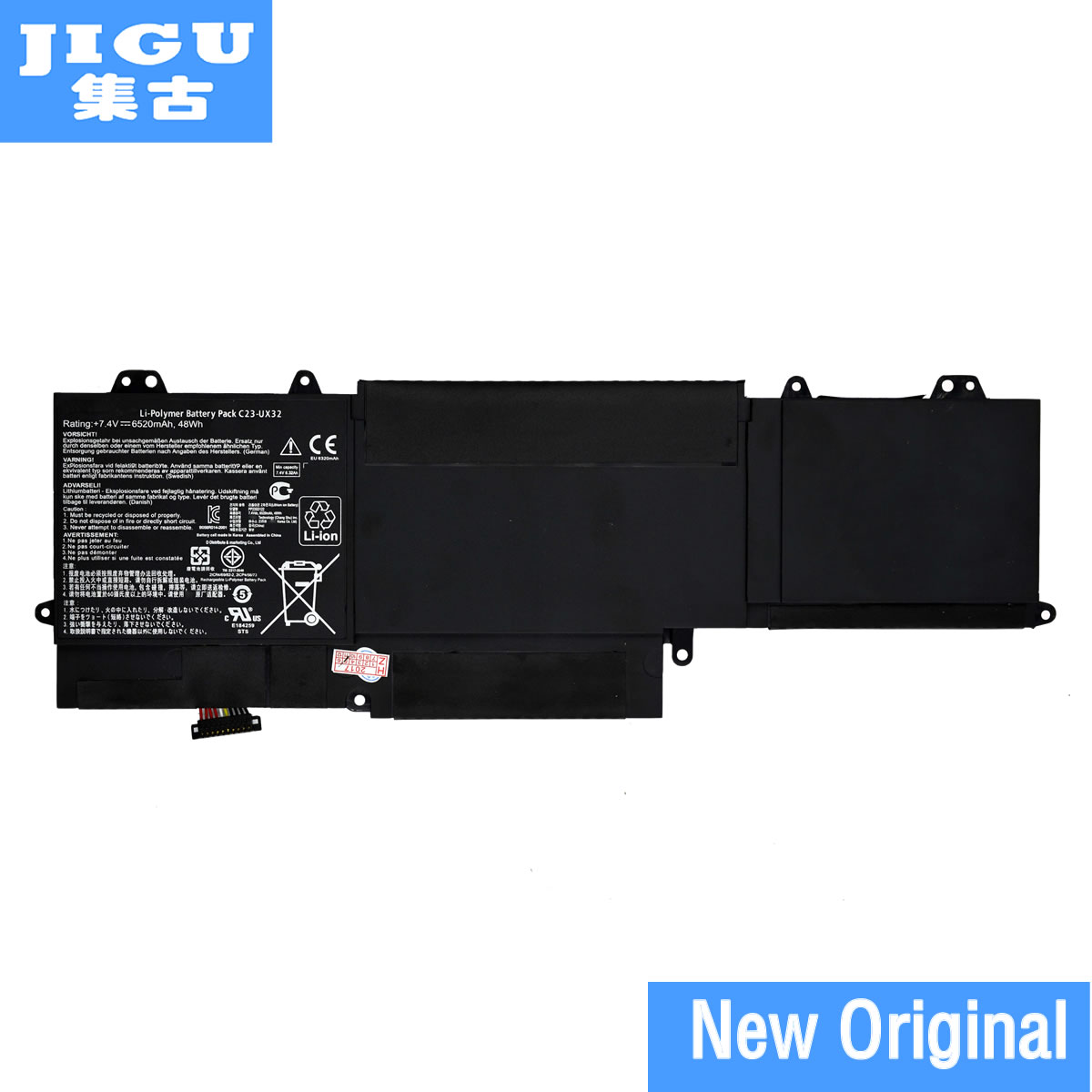 JIGU C23-UX32 Original laptop Battery For Asus VivoBook U38N U38K U38DT for Zenbook UX32 UX32VD UX32LA 7.4V 48WH мини колонки asus 2 0 dt 20b