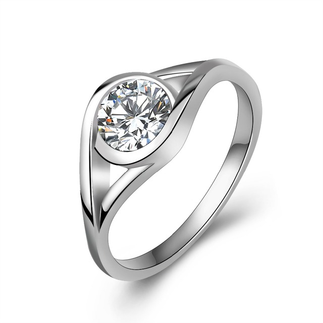 86ac562c2 100% Real Pure 925 Sterling Silver Classic Fashion Rings Wholesale Cubic  Zirconia Wedding Band Ring 1PC For Women or Men