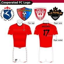 Дизайнерский комплект для футбола Женская футболка для футбола Детские тренировочные комплекты для футбола пустая версия пользовательское имя номер логотип Джерси triSeven