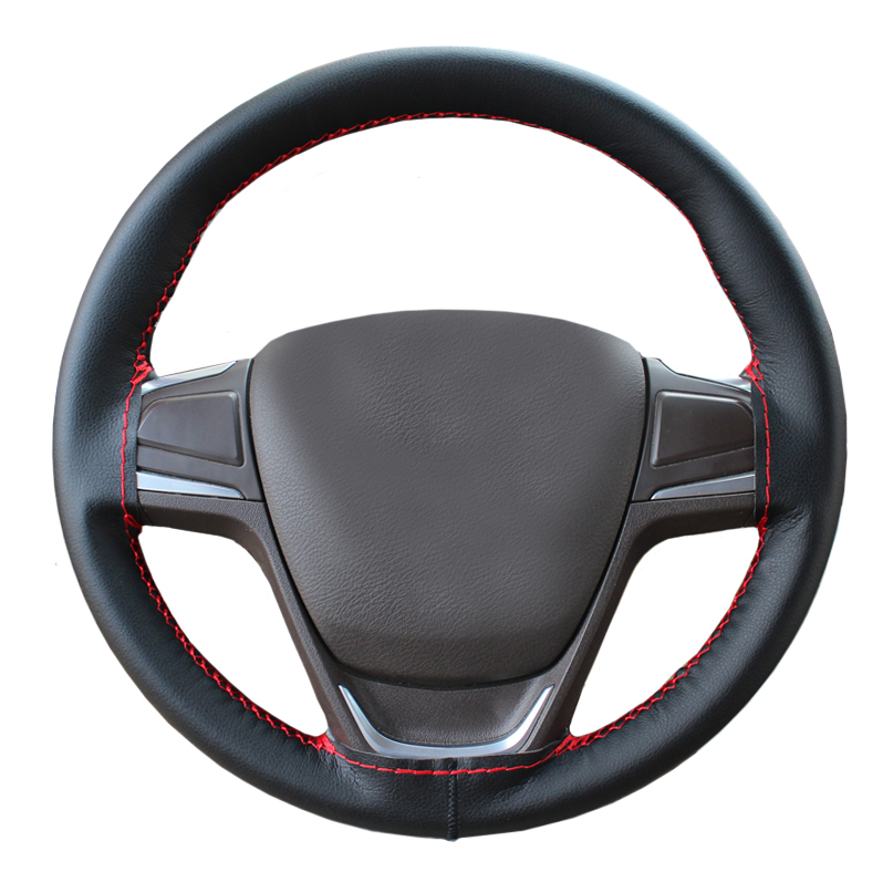 Soft and comfortable great quality microfiber leather 38cm car steering wheel cover with plain texture qialino genuine leather coated hard cover for iphone 7 plus black plain texture