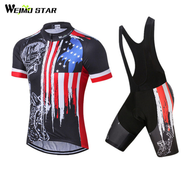 Weimostar 2018 Summer USA pro Team Cycling Jersey Set Racing Sport Bicycle  Cycling Clothing Road mtb Bike Jersey Ropa Ciclismo 76d99edad