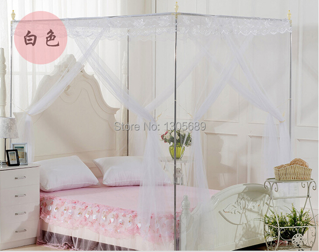 High Quality Eight Metal Steel Frame Pole 4 Four Corner Canopy Mosquito Net Bed Curtain