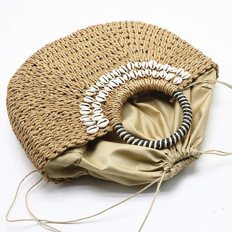 palha artesanal tecido cesta de vime verão