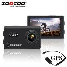 """Soocoo S300 פעולה מצלמה 4 k 30FPS 2.35 """"מסך מגע wifi GPS מיקרופון מיקרופון שלט רחוק מקרה מצלמה ספורט מצלמה 4 k"""