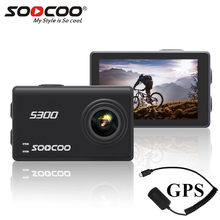 "Soocoo S300 action camera 4k 30FPS 2.35"" Touchscreen wifi microphone GPS Mic remote control case camera sport camera 4k(China)"