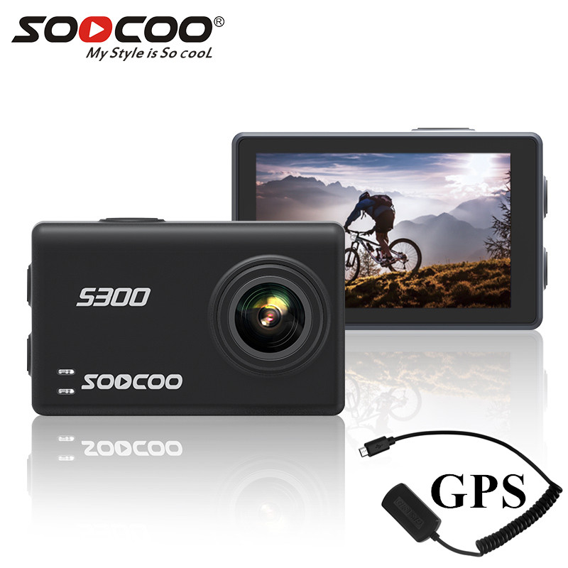 Soocoo S300 action camera 4k 30FPS 2.35 Touchscreen wifi microphone GPS Mic remote control case camera sport camera 4k image