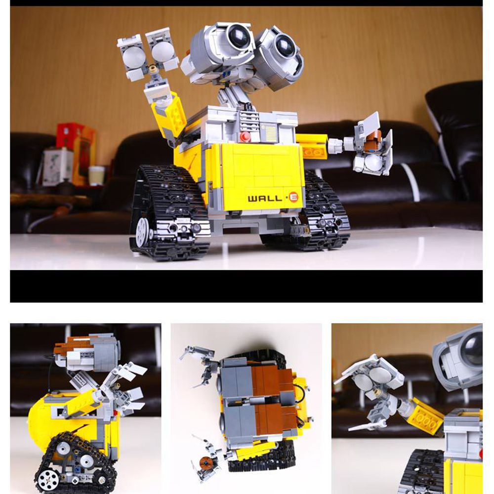 Lepin 16003 Ideas Robot Wall-E Building Assembling Blocks Bricks Educational Kid`s Toys Compatible with  lovely Toys Gifts lepin 02012 city deepwater exploration vessel 60095 building blocks policeman toys children compatible with lego gift kid sets