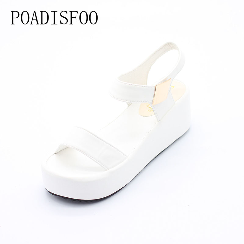 2017 Summer New Korean Version Of The high-heeled Wedge Heel Slippers Black Sandals Roman flat-bottomed Shoes .HYKL-K8 the new type of diamond mother sandals lady leather fish mouth flowers with leather high heeled shoes slippers women shoes