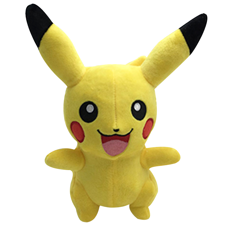 25cm Pikachu Toys Children Gift Cute Soft Plush Toy Cartoon Pocket Monster Hot Anime Pikachu Baby Kids Toy Stuffed Animals Doll anime pocket monster flareon cosplay cap orange cartoon pikachu ladies dress pokemon go hat charm costume props baseball cap