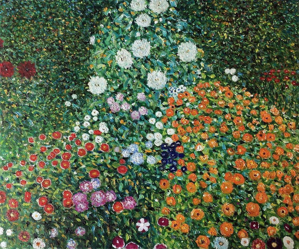 us $74.76 16% off high quality oil painting canvas reproductions flower  garden by gustav klimt painting hand painted-in painting & calligraphy from