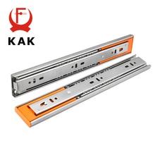 """KAK 1""""-22"""" направляющие из нержавеющей стали для выдвижных ящиков с мягким закрытием, Трехсекционные направляющие для выдвижных ящиков, опорный каток шкафа, мебельная фурнитура"""