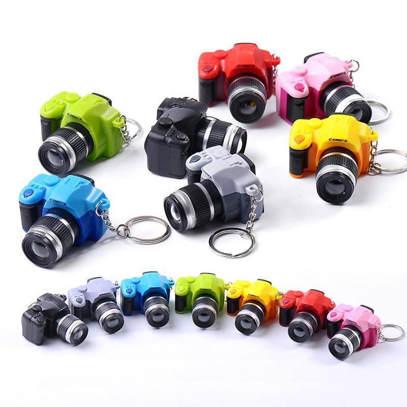 Mini Led Camera Toy Flashing Toys For Kids Digital Camera Keychain Luminous Sound Flash Light Pendant Bag Accessories Child Toy