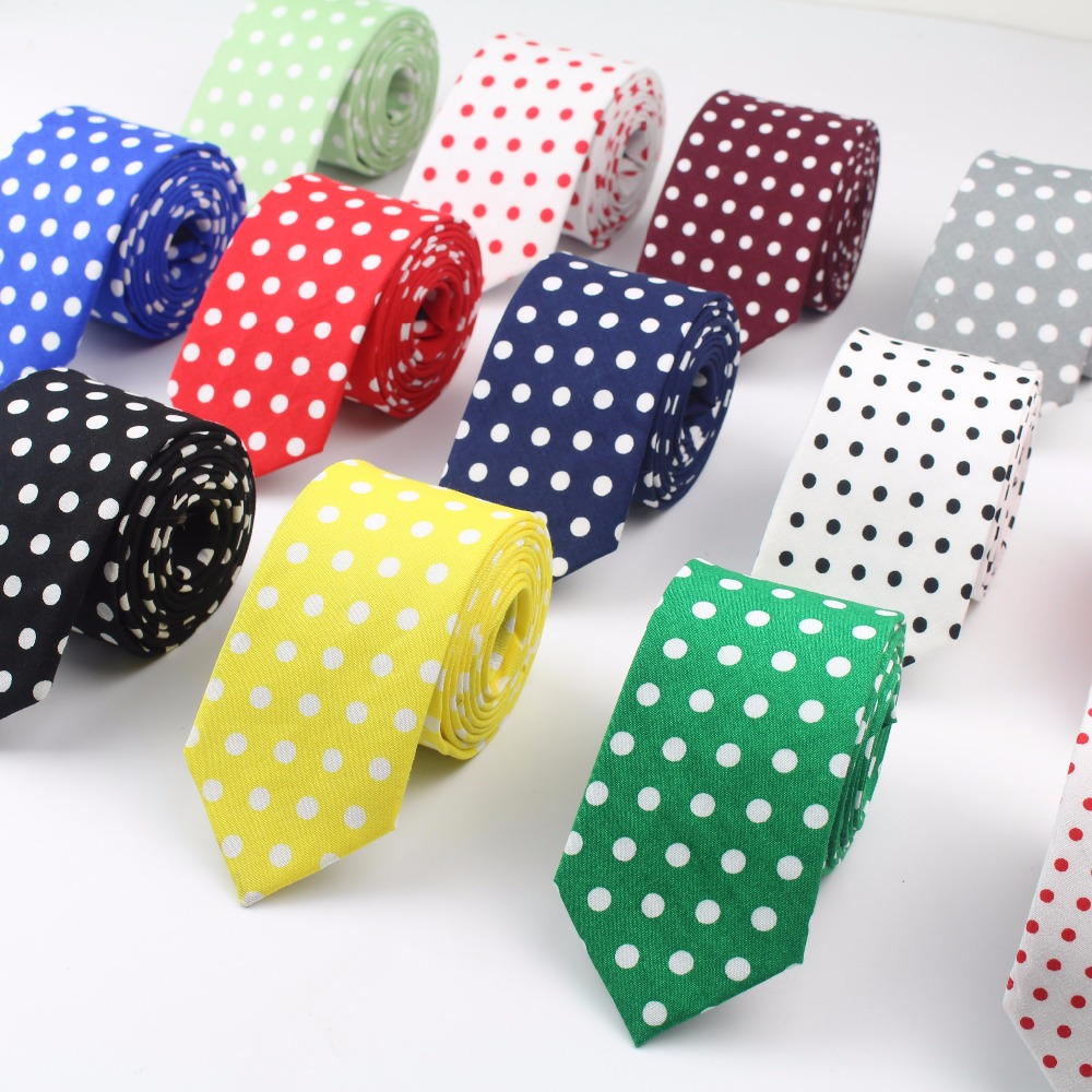 Circle Cotton Men's Colourful Tie Round Ties Necktie Narrow Dot Slim Skinny Cravate Narrow Thick Neckties