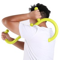 Fitness Body Building Hook Massager Neck Back Self Muscle Pressure Stick Tool Outdoor Fitness Equipment Hooks