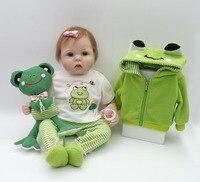 55cm Silicone adora Lifelike Bonecas Baby newborn realistic magnetic pacifier bebes reborn dolls babies toy