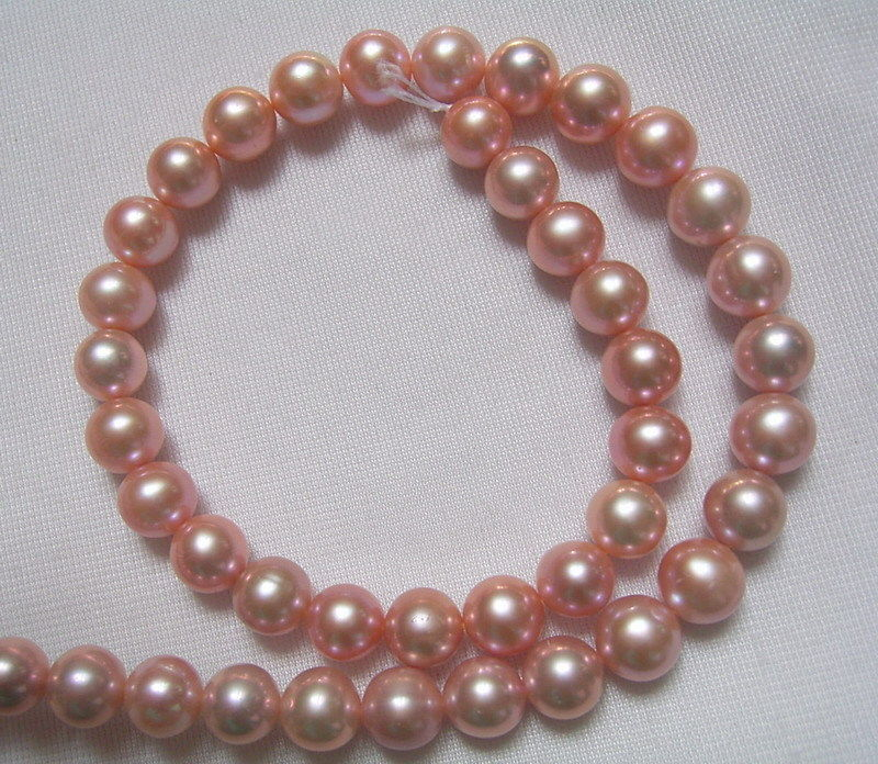 8PE02136 9-10mm Natural Purple Round Freshwater Pearls8PE02136 9-10mm Natural Purple Round Freshwater Pearls