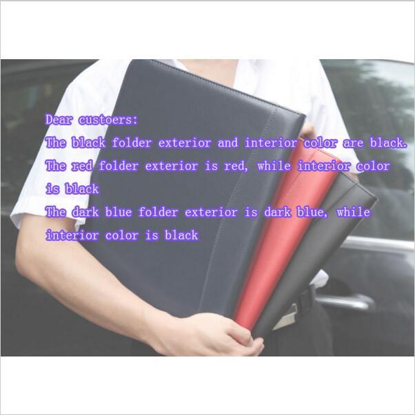 Us 36 69 Schwarz Blau Rot Visitenkarten Reißverschluss Pu Leder Portfolio A4 Dokumente Ordner Fällen Manager Tasche Tablet Pc Mobile Padfolio