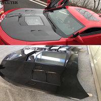 Carbon fiber Transparent engine hood engine cover for Chevrolet Camaro car body kit 16 17