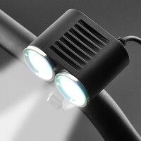 Fahrrad Front XM-L T6 Wasserdichte LED Led Kopf licht Lampe Taschenlampe Wiederaufladbare wasserdichte 1865 akku