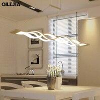 New Creative Modern LED Pendant Lights for Dining Room Living Room Width 4cm 8cm Wave Hanging Lamp Pendant Light AC95 265V