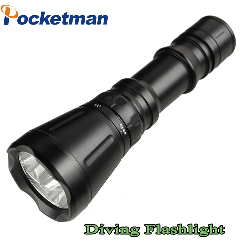 3*CREE XM-L T6 LED Diving Flashlight 5000LM Waterproof 5-Mode Torch Brightness 60m LED Torch Lanterna Torche ZK93