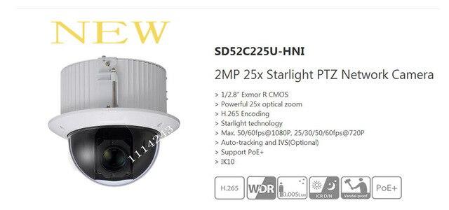 Бесплатная Доставка DAHUA Безопасности IP Камера 2-МЕГАПИКСЕЛЬНАЯ 25x Starlight PTZ Сетевая Камера Без Логотипа SD52C225U-HNI