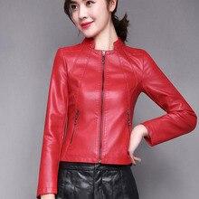 Women Genuine Leather Jacket Autumn 2019 New Arrival Winter Short Slim Female sheepskin Moto Biker Coat Korean Style
