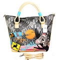 Fashion Will Capacity Woman Package Personality Embroidered Handbag Long Straps Weave Rainbow Package