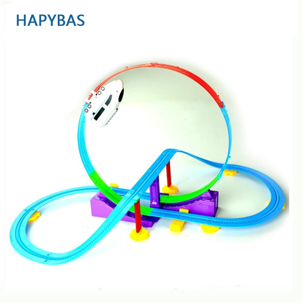 חם למכור 3D מתנות חגיגיות רכבת מהירה מסלול רכבת הרים רכבת צעצוע רכבת חשמלית עבור צעצועים חינוכיים לילדים הילד מתנה