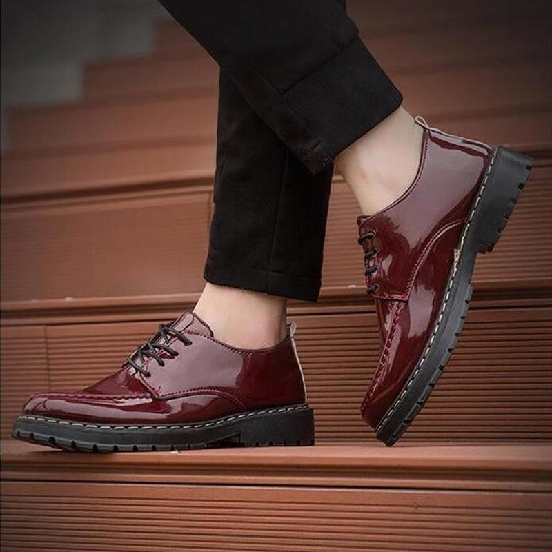 Formal Shoes Helpful Yeeloca Mens British Leather Shoes Mens Korean Version Of Pointed Brock Shoes Business Mens Shoes Dress Casual Shoes Drip-Dry Men's Shoes