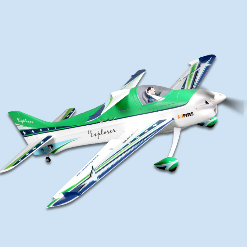 FMS RC avión 1100MM 1,1 M F3A explorador aerobático 3D verde 4CH 3S PNP duradero modelo de escala EPO hobby avión Avion pequeño-in Aviones RC from Juguetes y pasatiempos    3
