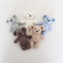 Brinquedo de pelúcia recém-nascido brinquedo fotografia adereços malha angola teddy bunny stuffer do bebê brinquedo animal foto adereços