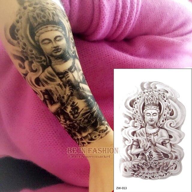 Us 113 1 Pc Armband Wzory Wodoodporna Fałszywy Tatuaż Naklejki Tymczasowe Tatuaż Kobiety Budda Buddyjski Arm Zw013 Cholewka Klatki Piersiowej Na