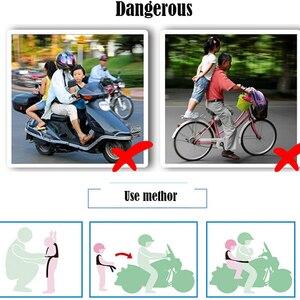 Image 5 - 오토바이 안전 벨트 어린이 조정 가능한 밤 반사 스트립 전기 모터 오토바이 어린이 벨트 아기 캐리어 하네스