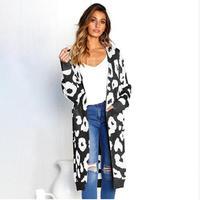 ЛИВА девушка мода повседневное длинный свитер с принтом свободные кардиганы с длинным рукавом трикотажные свитеры для женщин пальто для же