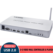 2×3 Video wall controller & Player Support a variety of stitching effects Support USB playback Stitching Video Wall Processor