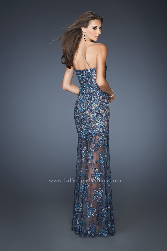 2013 Hot Sexy Champagne Dark Gray Lace Mermaid Evening Dresses