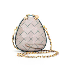 INS Popular Egg shaped Shoulder Bag Chain Woman Purses And Handbags Bags For Women 2019 Genuine Leather Crossbody